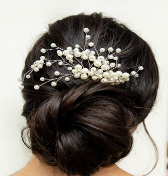 Hand Crafted Bridal Hair Accessory Headpiece Rhinestone Hair Comb