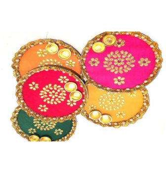 Hand Crafted Decorated Gota Patti Thali